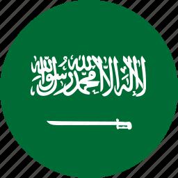 country, flag, saudi arabia icon
