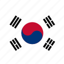 south korea, country, flag icon