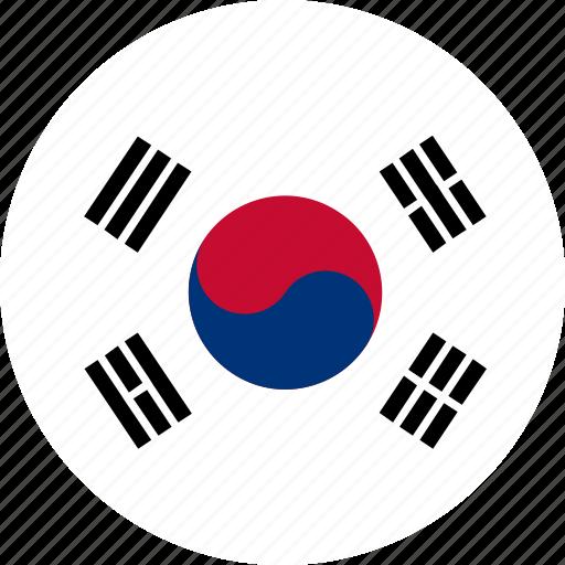 country, flag, south korea icon