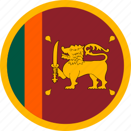 country, flag, sri lanka, srilanka icon