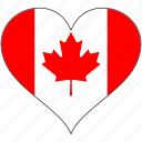 canada, flag, heart, north america, love, national