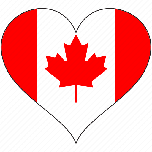 Canada, flag, heart, north america, love, national icon - Download on Iconfinder