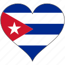 country, cuba, flag, heart, love, north america icon