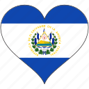 country, el salvador, flag, heart, north america icon