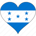 flag, heart, honduras, north america, national