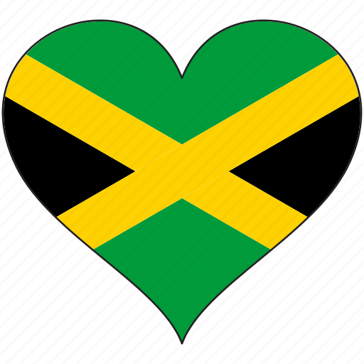 country, flag, heart, jamaica, love, north america icon