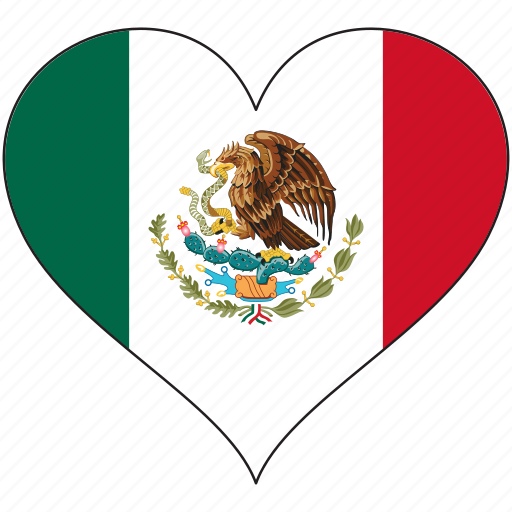 Flag, heart, mexico, north america, national icon - Download on Iconfinder
