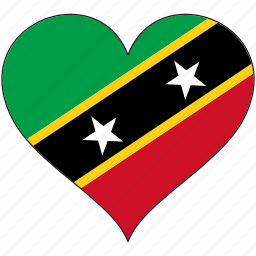 flag, heart, national, north america, saint kitts and nevis icon