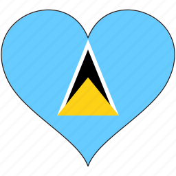 flag, heart, national, north america, saint lucia icon