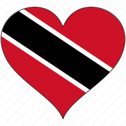 flag, heart, national, north america, trinidad and tobago icon