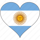 argentina, flag, heart, south america, country, love