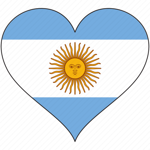 Argentina, flag, heart, south america, country, love icon - Download on Iconfinder