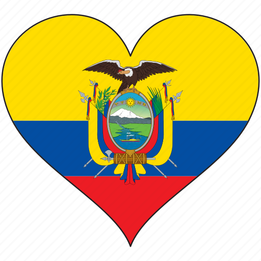 Ecuador, flag, heart, south america, country icon - Download on Iconfinder