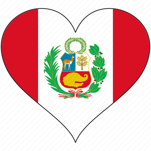 Flag, heart, peru, south america, country icon - Download on Iconfinder