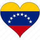 country, flag, heart, love, south america, venezuela icon