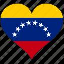 flag, heart, south america, venezuela, country, love