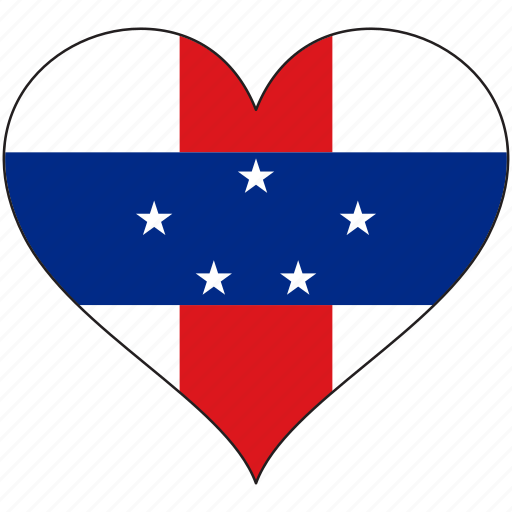 Flag, heart, netherlands antilles, south america, country icon - Download on Iconfinder