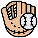 baseball, gloves, mitts, softball, sports icon