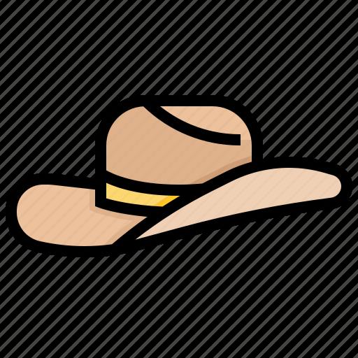 attire, costume, cowboy, hat, ranch icon