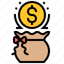 budget, currency, dollars, money, saving icon