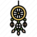 charm, dreamcatcher, handmade, hoop, protection icon