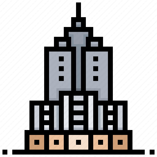 building, height, landmark, skyscraper, tall icon
