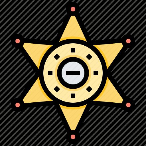 Badge, enforcement, sheriffs, star icon - Download on Iconfinder