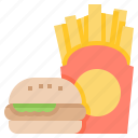 fast, food, frenchfried, hamburger, meal