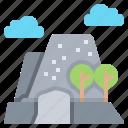 dome, half, mountain, ridge, rock icon