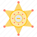 badge, enforcement, sheriffs, star icon