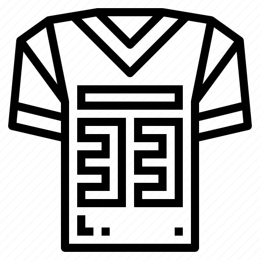 american, football, jersey, rugby, sport icon
