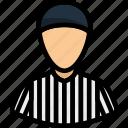 line, outline, judge, american, football, referee, sport