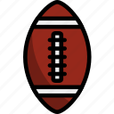 line, outline, american, rugby, sport, ball, football