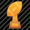trophy, champion, winner, rugby, american, football, sport