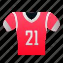 uniform, shirt, rugby, american, football, sport