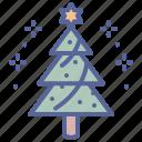 celebrate, christmas, star, tree, hygge, snow, new year