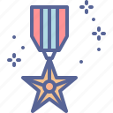 day, medal, rememberance, veteran icon