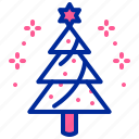 celebrate, christmas, star, tree icon