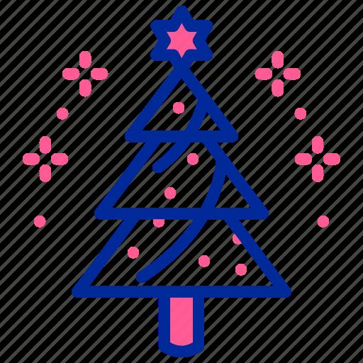celebrate, christmas, star, tree icon
