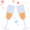 celebrate, champagne, drink, new year icon