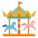 park, carousel, circus, amusement, fairground icon