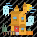 park, castle, house, amusement, haunted icon