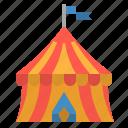 amusement, circus, fancy, park, tent icon