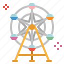 childhood, fair, ferris, fun, wheel icon