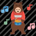 bear, costume, mascot, people, puppet icon