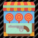 park, childhood, amusement, fair, shooting icon