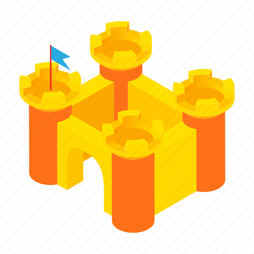 cartoon, castle, childhood, house, play, tower, toy icon