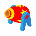 ball, cannon, cartoon, circus, entertainment, performance, show icon