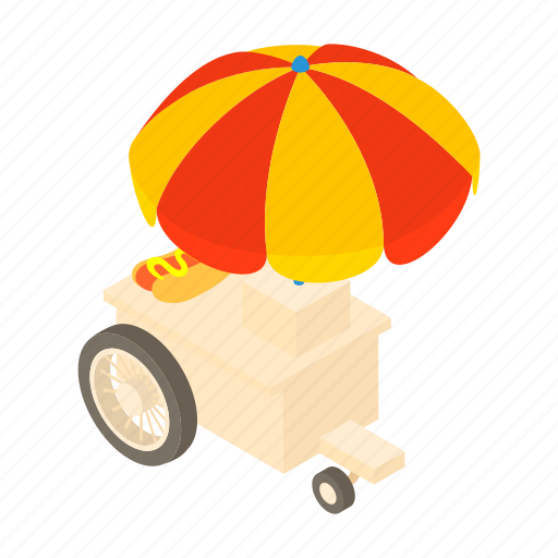 cartoon, dogs, fast, food, hot, sale, truck icon