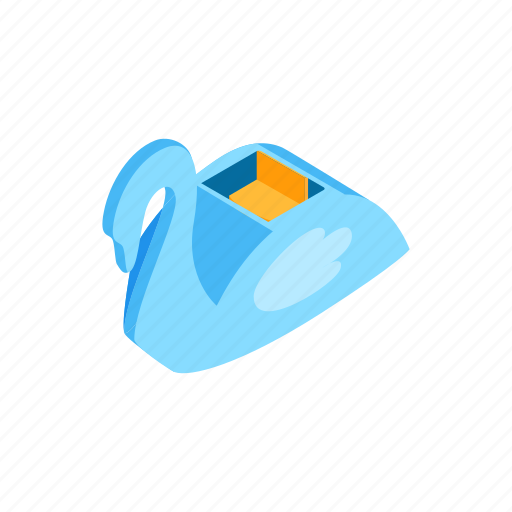 amusement, carousel, fair, isometric, park, ride, swan icon